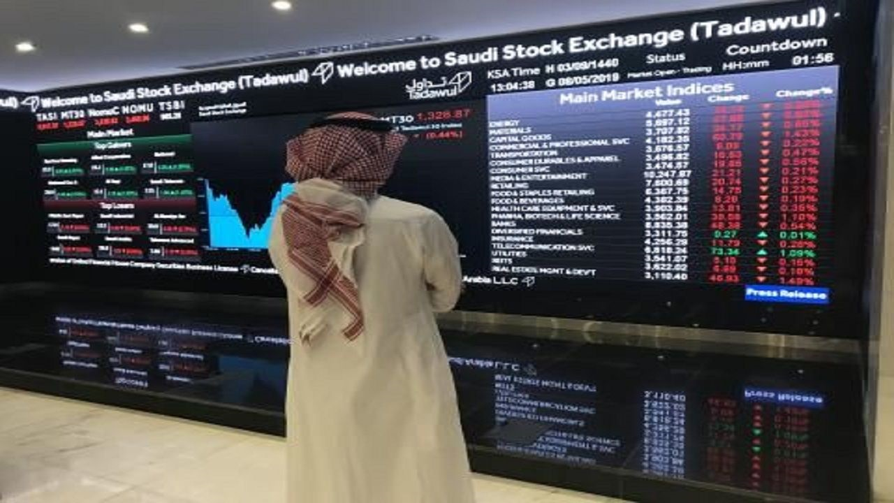 مؤشر سوق الأسهم يغلق منخفضاً