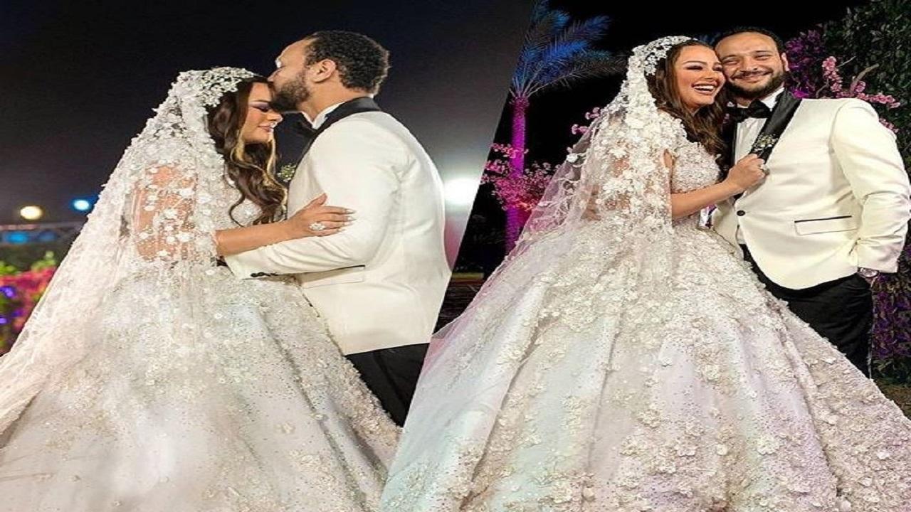 بالفيديو والصور.. هنادي مهنا وأحمد خالد صالح يحتفلان بزفافهما