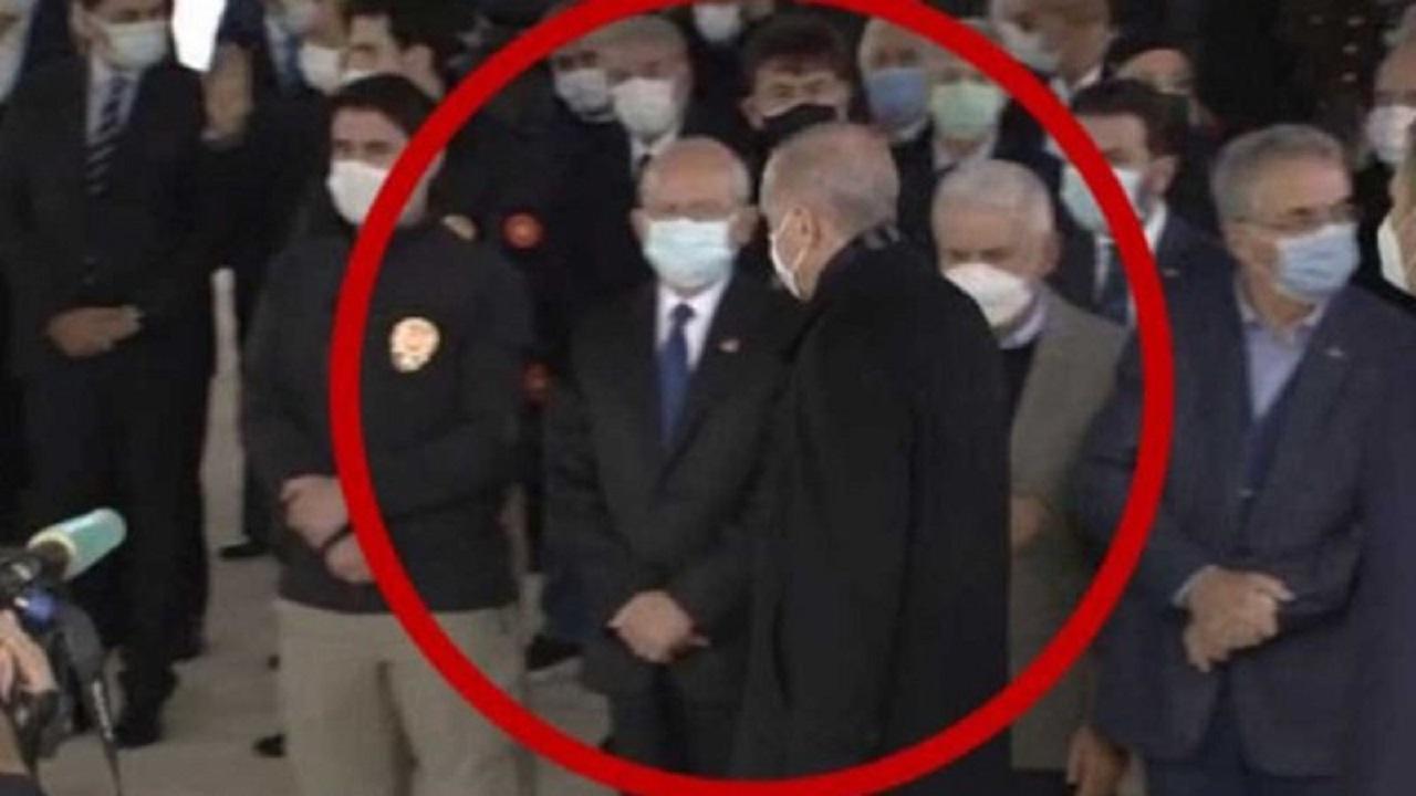 """""""أردوغان"""" يرفض مصافحة زعيم المعارضة بسبب """"حقيبة يد زوجته"""""""