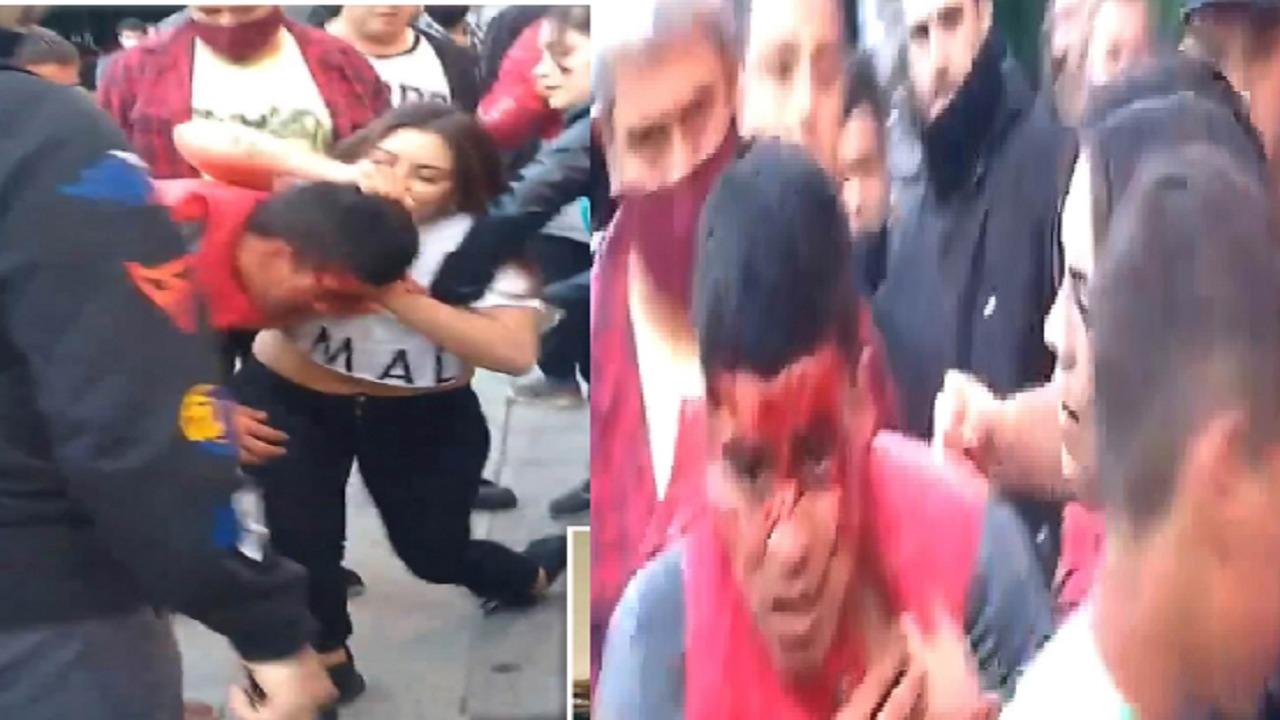 بالفيديو.. فتاة تمسك لص وتضربه في شارع عام