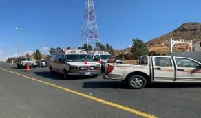 حادث مروري يصيب 6 أشخاص في الطائف