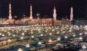 صورة ليلية قديمة للمسجد النبوي الشريف