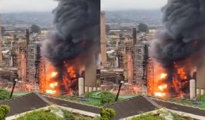 بالفيديو.. انفجار بمصفاة نفط في ديربان بجنوب أفريقيا