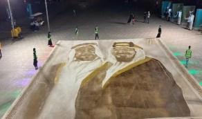 مواطنة ترسم أكبر لوحة بالقهوة في العالم على كورنيش جدة