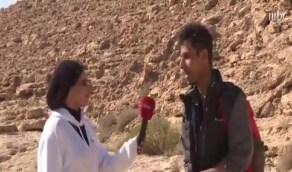 بالفيديو.. شاب يترك العمل للتفرغ لمغامرات تسلق الجبال