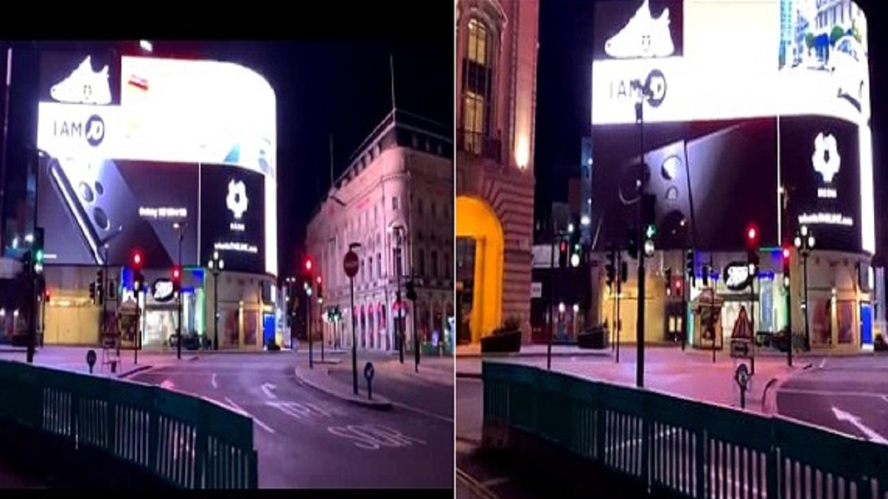 بالفيديو.. إعلان مشروع نيوم يتصدر أشهر ميادين لندن