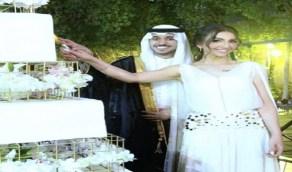 """فيديو طريف لـ""""هبة الحسين """" وزوجها أثناء تناولاهما كعكة شيف شهير"""