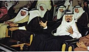 صورة نادرة للملك عبدالله في إحدى المناسبات بالرياض