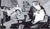 صورة نادرة للملك سعود مع الملك حسين بالرياض قبل 66 عام