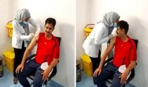 فيديو مؤثر لمواطن يتلقى لقاح كورونا على يد ابنته