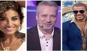 """بالفيديو.. تامر أمين يهاجم """"دينا الشربيني"""" بسبب """"عمرو دياب"""""""
