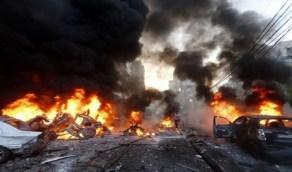بالفيديو.. 23 قتيل وجريح في تفجير انتحاري ضخم وسط بغداد