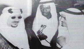 صورة نادرة للملك سعود أثناء افتتاح الجامعة عام 1957م