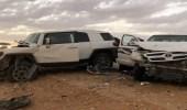 وفاة شخصين وإصابة 5 آخرون في حادث مروع بالجوف