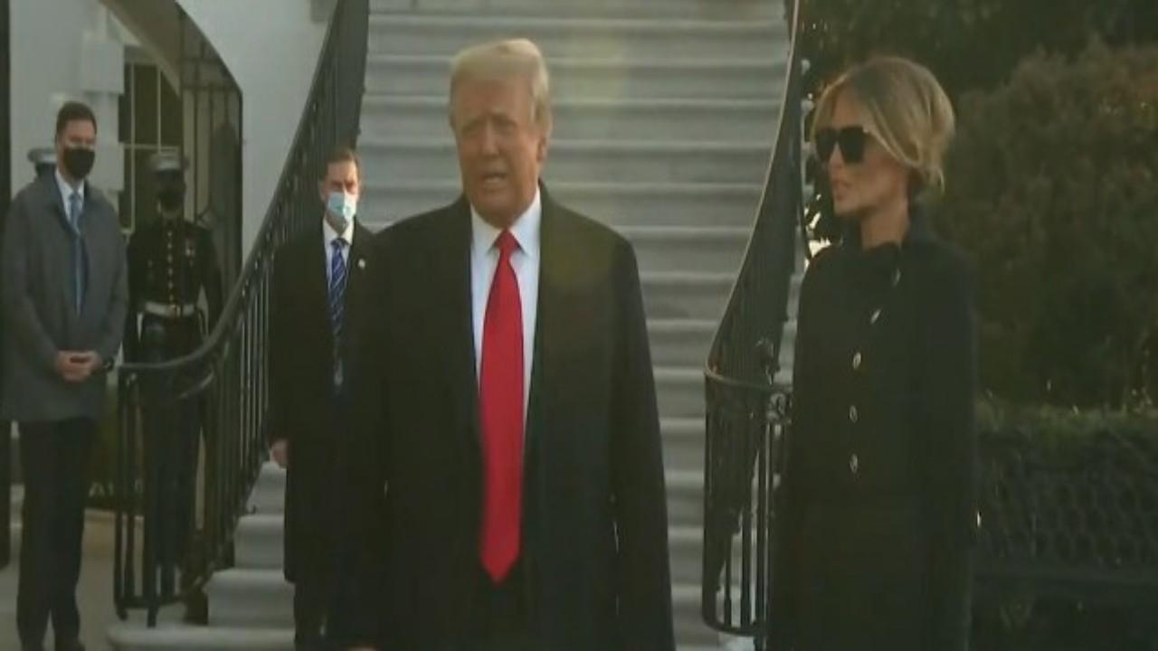 شاهد.. ترامب يودع البيت الأبيض بكلمات مؤثرة قبل مغادرته