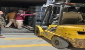 شاهد.. لحظة وصول أول شحنة صادرات من العراق إلى المملكة