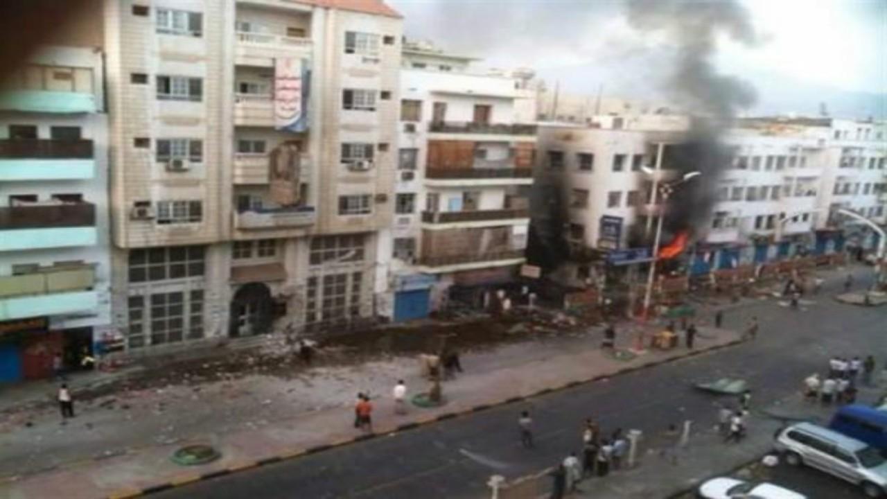 انفجار عبوةناسفة على الطريق المؤدي إلى مقر قيادة التحالف العربي بعدن
