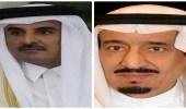 برقية عاجلة من أمير قطر لخادم الحرمين