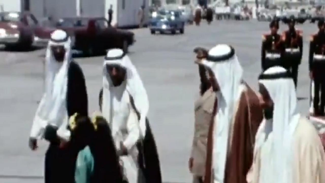 فيديو نادر للملك خالد أثناء زيارته إلى الإمارات منتصف السبعينات الميلادية