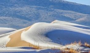 شاهد.. تساقط الثلوج في صحراء المملكة يبهر وسائل الإعلام الأجنبية