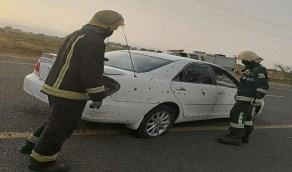 إصابة 3 مدنيين إثر سقوط مقذوف حوثي على إحدى القرى الحدودية