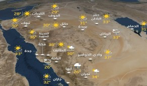 حالة الطقس المتوقعة اليوم الأثنين