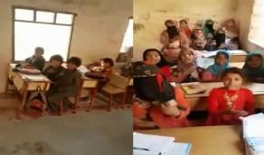 شاهد.. كيف حولت مليشيا الحوثي المدارس إلى وكر لتفخيخ عقول الأطفال