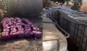 بالفيديو.. لحظة ضبط مصنع خمور داخل مزرعة في القطيف