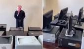 بالفيديو.. الإطاحة بمواطن اقتحم مدرسة وسرق حاسبات وطابعات بالرس