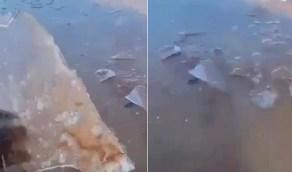 فيديو جديد يظهر تجمد المياه في طريف اليوم