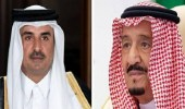 أمير قطر يرسل برقية عاجلة لخادم الحرمين
