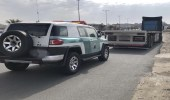 ضبط شخص قاد شاحنة بسرعة عالية معرضاً الآخرين للخطر بعسير