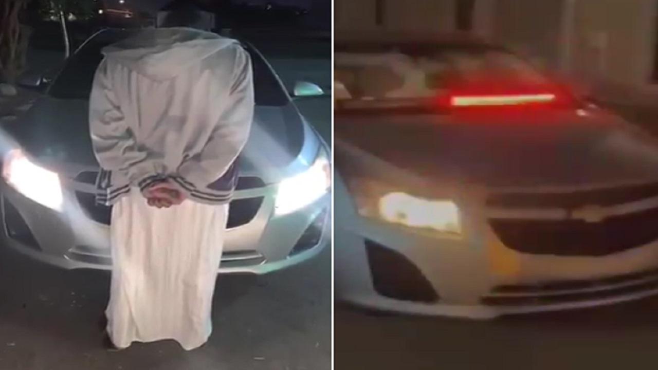 بالفيديو .. القبض على مُفحط متهور تباهي بتركيب تجهيزات أمنية على مركبته بالرياض