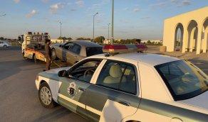 القبض على قائد مركبة قام بقطع الاشاره في ينبع