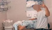 """شاب متهور ينشر لحظة تقيأ زوجته في الحمام على """"تيك توك"""""""