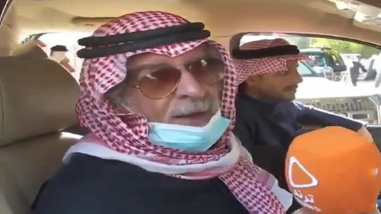 """شاهد.. والد الراحل مشاري البلام: """"عطوه اللقاح بدون لا يفحصونه"""""""