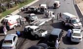 حادث تصادم مروع يوقف الحركة المرورية على الدائري الشمالي بالرياض