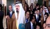 فيديو نادر للملك عبد الله مع مبتعثين بأمريكا وحوار طريف معهم