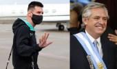 الرئيس الأرجنتيني يستأجر طائرة ميسي!