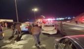 حادث جماعي بين 5 سيارات بمكة المكرمة فجراً