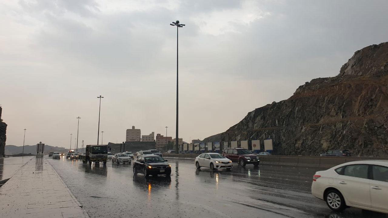 استمرار هطول أمطار رعدية على بعض المناطق