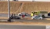 بالفيديو.. وقوع حادث مروري لسيارتين على طريق مكة