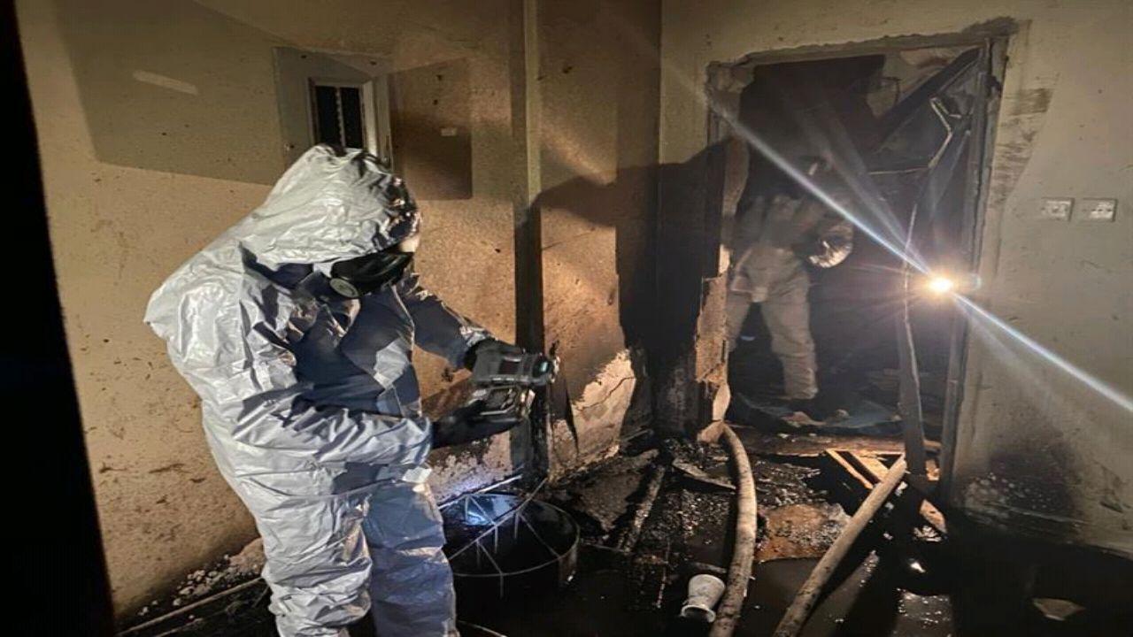 بالصور.. إصابة شخصين إثر تسرب غاز في شقة سكنية بالرياض