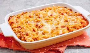 أسهل طريقة لعمل طاجن المكرونة بالدجاج والجبن الشيدر