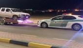 بالفيديو.. القبض على سائق مارس التفحيط وعكس السير في دومة الجندل