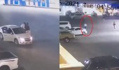 بالفيديو.. شاب يحبط سرقة سيارة بالرياض