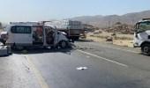 إصابة 4 أشخاص إثر حادث مروع في مكة