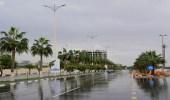 هطول أمطار خفيفة إلى متوسطة على المنطقة الشرقية
