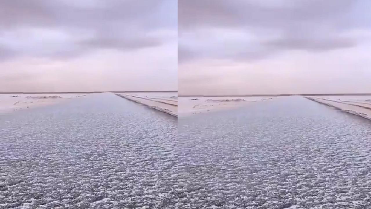 بالفيديو.. هطول زخات من البرد على الجوف