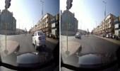 بالفيديو.. قائد مركبة يتعمد قطع الإشارة الحمراء بجدة